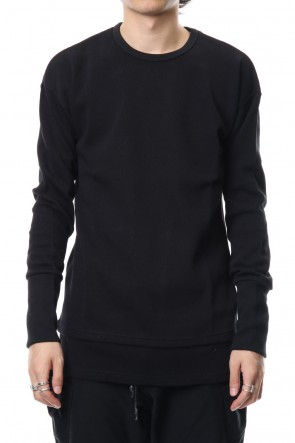 RIPVANWINKLE 18-19AW Double Face Layered L/S  RB-010 Black