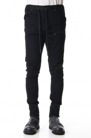 RIPVANWINKLE 19-20AW SLIM EASY PANTS Deep Black