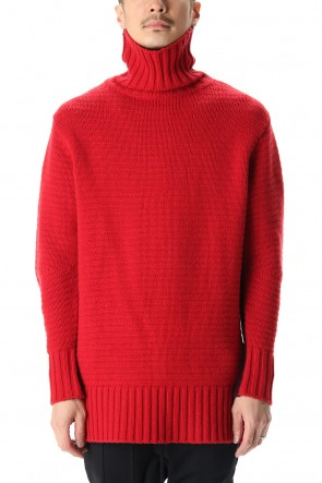 RIPVANWINKLE 20-21AW DOUBLEFACE KNIT JERSEY Red×Burgundy