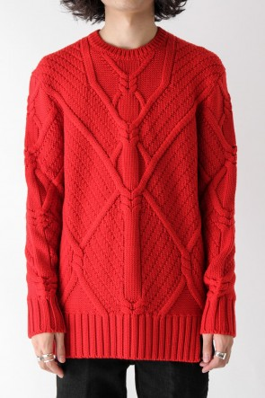 Neil Barrett 17-18AW GEOMETRIC CABLE MERINO WOOL 3 GG KNIT