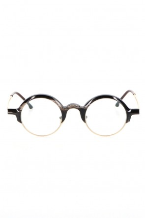 RIGARDS 21SS RG0109 Genuine Horn Black&White Clear Lens