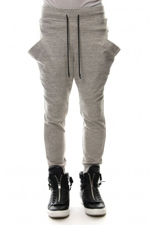 RIPVANWINKLE 19SS NEW JODHPUR JERSEY PANTS Pepper Gray