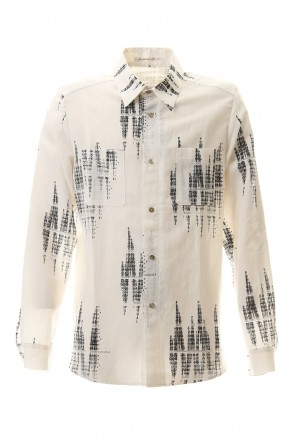 individual sentiments 20SS Notation Printed Long sleeve shirt - SH52-CU1