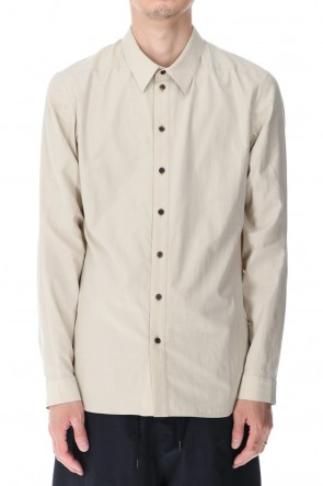 DEVOA 21SS Shirt silk/cotton broad sandblast finish Light Beige