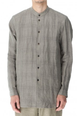 DEVOA 21SS Shirt Linen check shrink wash