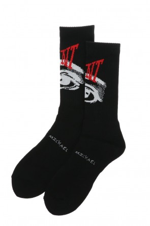 ©SAINT M×××××× 21SS Eye Socks Black
