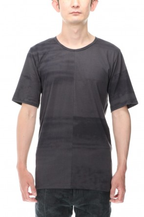 D.HYGEN 21SS 40/2 Cotton & Modal Jersey Stitch Print Half Sleeve T-Shirt Charcoal