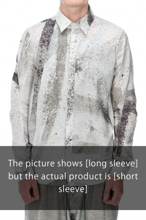 D.HYGEN 21SS 40/- Lawn Print Half Sleeve Shirt Dusty White
