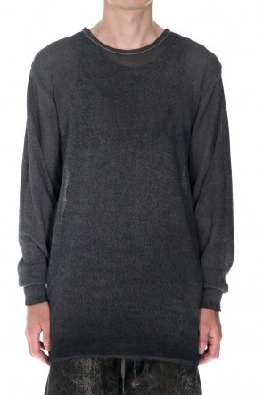 D.HYGEN22SSCold Dyed Washi(Japanese Paper)Knit Pullover  Charcoal