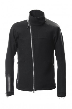 SADDAM TEISSY 18-19AW Leather Needle Punch High Neck Jacket