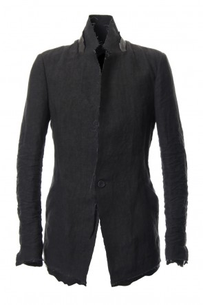 SADDAM TEISSY 19SS Rough leather x linen tailored Jacket - ST104-0029S