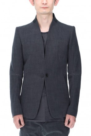 D.HYGEN 21SS No Lapel Tailored Jacket Charcoal