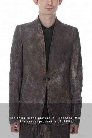 D.HYGEN22SSWood Tannin&Iron Oxide Dyed Dimple Dobby Tailored Jacket  Black