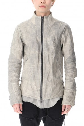 D.HYGEN 21SS Limited Horse Leather High-Neck Jacket Concrete