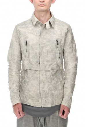 D.HYGEN 21SS Horse Leather Shirt Jacket Concrete