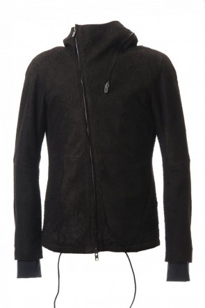SADDAM TEISSY 20-21AW Destroy Deer skin Hooded jacket