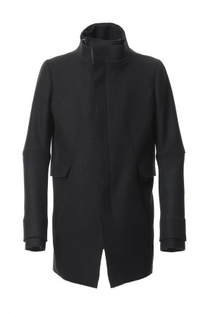 SADDAM TEISSY 18-19AW Angola Wool Melton Layered Half Coat