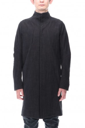 D.HYGEN 21SS Cotton Washer Processed High-Neck Coat Black