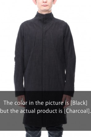 D.HYGEN21SSCotton Washer Processed High-Neck Coat Charcoal