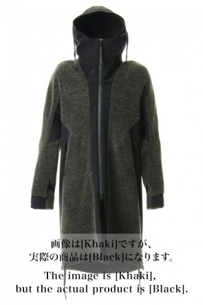 D.HYGEN 20-21AW Kenpi wool Boa Hooded Coat Black