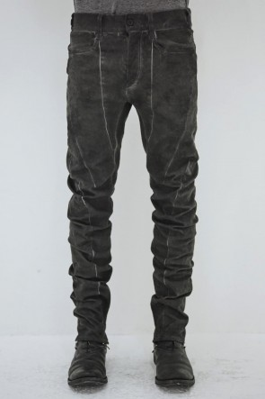SADDAM TEISSY 19-20AW Dirty Coating Cold Dyed Curve Slim Pants - ST107-0049A
