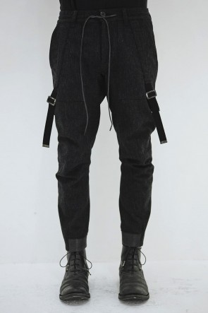 SADDAM TEISSY 19-20AW Wool × Cortton Serge Harness Tapered Cropped Pants - ST107-0069A