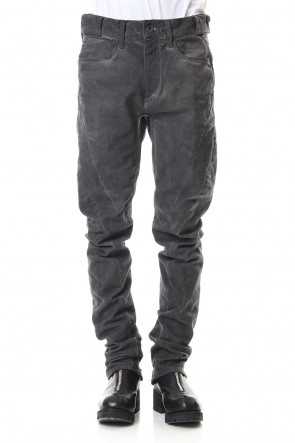 SADDAM TEISSY20SSOver Cold Dyed Curve Slim Pants Charcoal