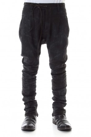SADDAM TEISSY 20SS Linen Ash Coating Drop Crotch Slim Pants