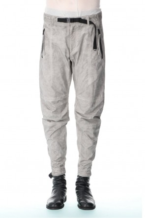 D.HYGEN 21SS Salt-shrinkled NC Tapered Cropped Pants Gray