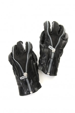 SADDAM TEISSY 19-20AW Horse Leather Split ZIP Gloves - ST108-0069A