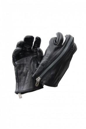 D.HYGEN 20-21AW Horse Leather Zip Gloves