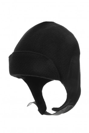SADDAM TEISSY 19-20AW Leather Needle Punch Flight Cap - ST109-0069A
