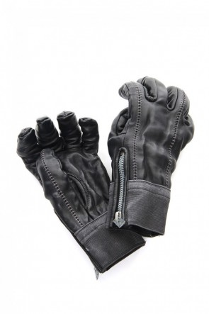 D.HYGEN 20-21AW Horse Leather Over Lock Gloves
