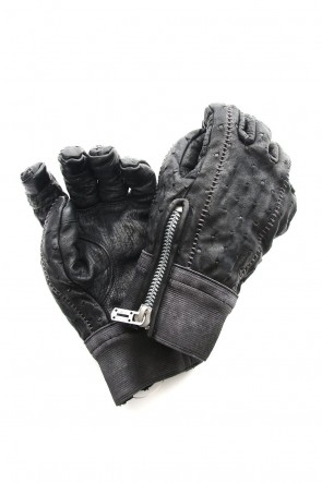 SADDAM TEISSY 18-19AW Fascinate Limited Ostrich leather over lock glove