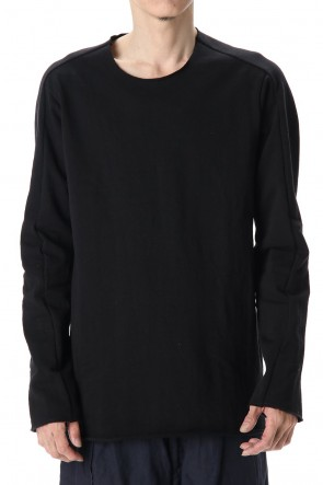 WARE 20SS Cotton Crew Neck L/S T-Shirts Black