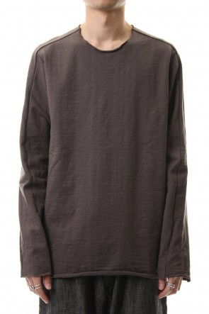WARE 20SS Cotton Crew Neck L/S T-Shirts Mokha