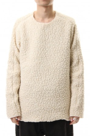 WARE 19-20AW Mixed Boa Crew Neck Knit