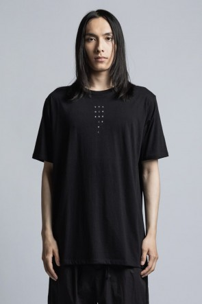 The Viridi-anne 21SS 40/- Jersey Knit T-Shirt with Logo Embroidery Black