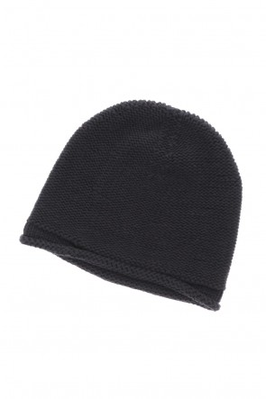 DEVOA 20-21AW Knit cap Hand made cotton Black
