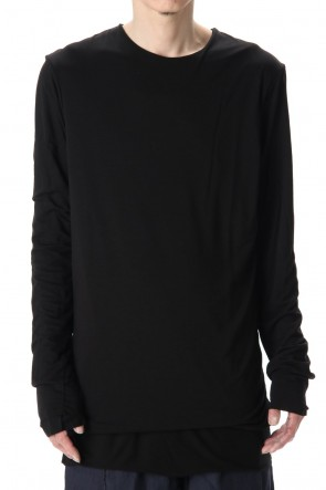 WARE 20SS Cotton W-face L/S T-Shirts Black x Black