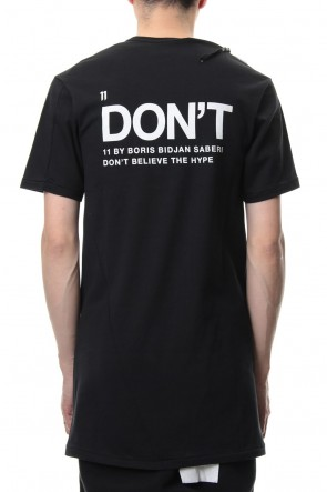 "11 BY BORIS BIDJAN SABERI 19SS ""DON'T"" T-shirt"