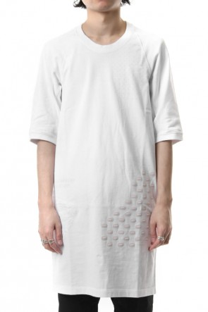 11 BY BORIS BIDJAN SABERI 19SS Reflector print & embroidery T-shirt (White)
