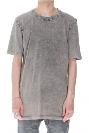 11 BY BORIS BIDJAN SABERI 21SS TS5 BASIC T-SHIRT - Acid Gray
