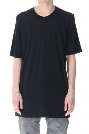 11 BY BORIS BIDJAN SABERI 21SS TS5 BASIC T-SHIRT- Black Dye