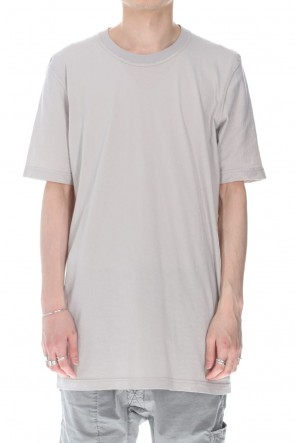 11 BY BORIS BIDJAN SABERI 21SS TS5 BASIC T-SHIRT-Light Gray Dye