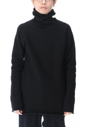 ware Classic Silkete Cotton Fleece Bottle Neck Sweat Black