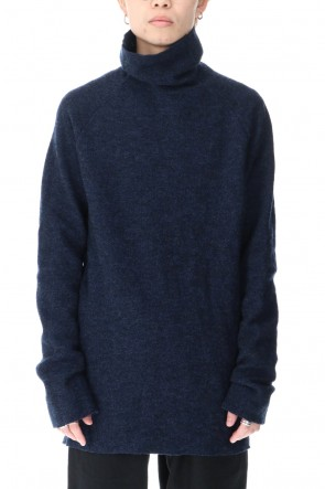 ware Classic Boucle Bottle Neck Knit Navy