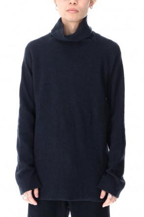ware Classic New Boucle Knit Bottle Neck D.Navy