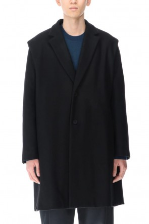 VEIN 20-21AW Recycle heavy melton Chester coat