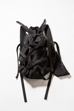 The Viridi-anne 18-19AW 'macromauro' Striped backpack small
